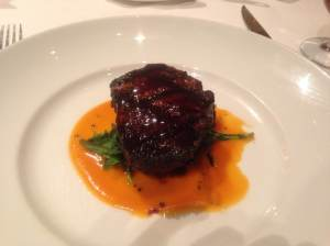 Grilled Angus Beef Filet Mignon (with Parsley Root, Back Kale and Red Pumpkin Essence)