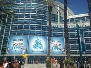 Our view of the Anaheim Convention Center as we made our way in.