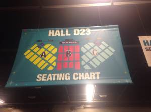 And here you can see the Seating Chart for Hall D23